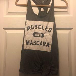 Muscles and Mascara workout tank size Medium